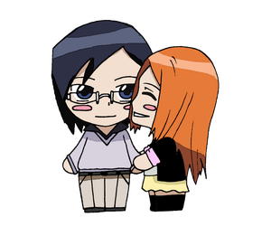 Bleach - Uryu and Orihime by CandyAddict774