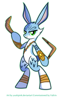 E. Aster Bunnymund Pony  (Commission for Valtrix) by yuukipink