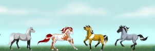 Horses of dA Series 2 by MichelleWalker