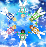 Elizuke and The Nintendo Girls/SLSX Skydiving by Elizuke94