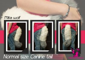 Normal size canine tail - Mika by FurryFursuitMaker