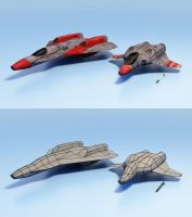 Space Fighters Render by Walter-NEST