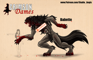Babbette - Wolf Form - Gore - Censored by Paladin-Ciel