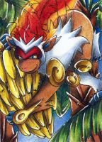ACEO - Infernape by Hyacinthley