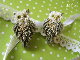 Owls - earrings by alisa-grevtsova
