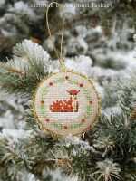 Christmas deer - pinkeep by lovebiser