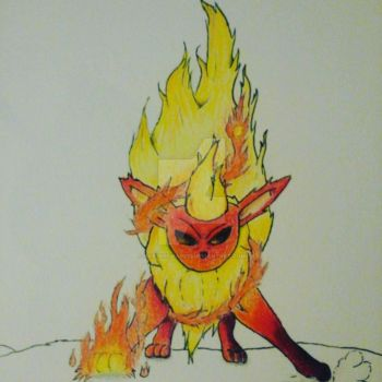 Flareon from Pokemon by okamiofwar710