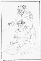 Tobi and May play videogames by Shirowe