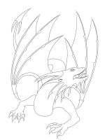Dragon Lineart #1 by Ruiorven