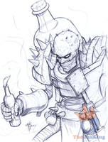 Singed Pencils by sykoeent