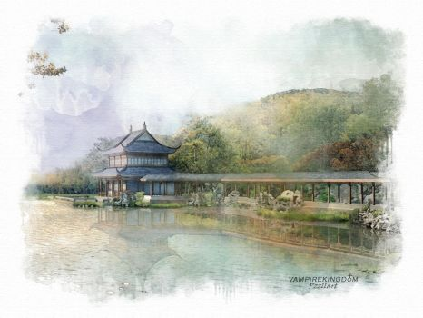 Watercolor - Landscapes of the world - Japan by vampirekingdom