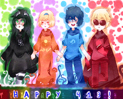 happy 413 everyone!! by Namimorii