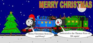 Thomas's 2nd Christmas Card to the Thomas Fans by LGee14