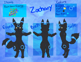 Zachary the umbreon Ref .:Comm:. by UmbreRoshia