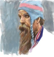 Digital Portrait Sketch Nov 2011 by grobles63