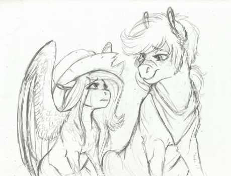 AU Doodle- Stronger Than You Think by Earthsong9405