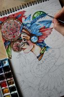 Dreamcatcher - in progress by CathM