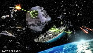 The Battle of Endor by Etienne-Ripzaad