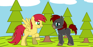 Apple Thunder and DoomKeiser - going for a walk by Imp344