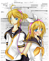 Rin and Len Fanart Digital by Himegaru
