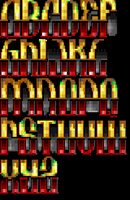 TheDraw ANSI Font 'Acheron' by roy-sac