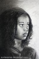Rue 'Fading' - Second Charcoal Drawing by SunlessRise