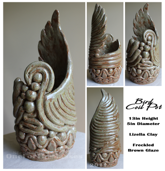 Bird Coil Pot by OneForTheMasses