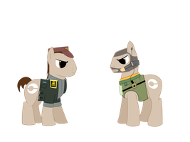 Ponyzone : Colonel Templar and Captain Narville by ShadyHorseman