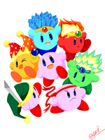 Kirby x7 by A-say