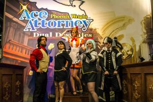 Ace attorney group by kumocos