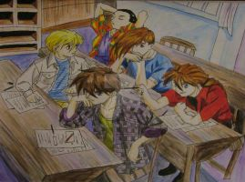 Gundam guys -Detention by GXrocksmysox7