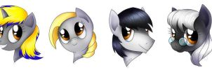 Ponies By CuriousCucumber for me by grandmoonma
