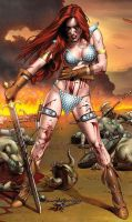 Red-sonja-with-her-sword-photo-u1 by talha122