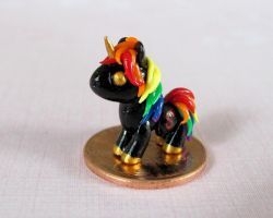 Micro Rainbow Unicorn by DragonsAndBeasties