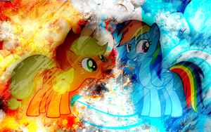 AppleDash: Awesome Age Wallpaper by EnemyD