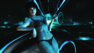 Tron Wallpaper - Quorra by ethaclane
