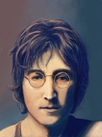 John Lennon - portrait light and colour study by Vorseth