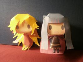 Panty and Stocking papercrafts by sabrynaM