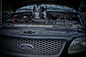 Ironhide pokes his head out by CHarrisPhotography