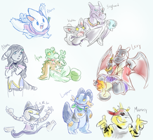 PKMN Crossing: Sketchfest by Lhumina