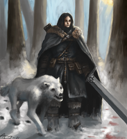 Game of Thrones: Jon Snow by Adzerak