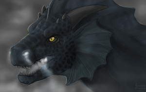 Dragon Profile Speedpaint 02 by Scaleeth