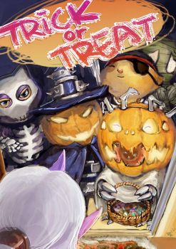 Trick or Treat ! by racoonwolf