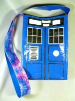 TARDIS Duct Tape Bag by QuietMischief