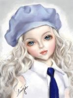 BJD Doll draw for fun by colorfu1clouds