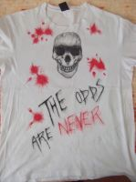 The odds are never in our favor (shirt) by Snowleonheart