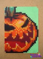 Evil Pumpkin ATC by SerenaAzureth