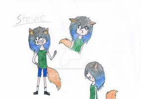My Adventure Time O.C-Stevie the Cat-Girl by CarrieShells