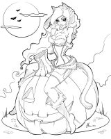 Line work Halloween 2012 by NoFlutter