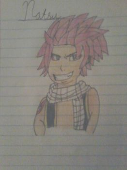 So I tried drawing Natsu from Fairy Tail by OptimusPrimesWolf